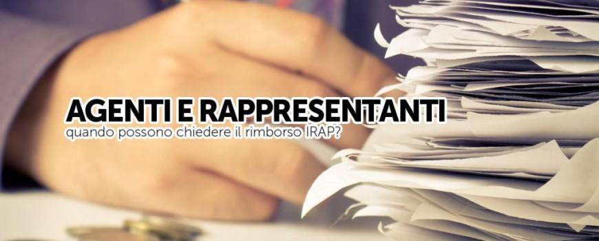 Rimborso IRAP: Agenti e rappresentanti